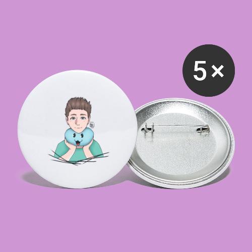 aweber804 | Türkis - Buttons groß 56 mm (5er Pack)