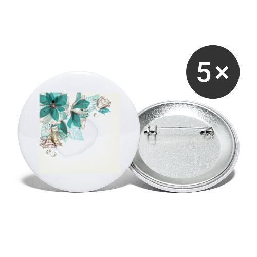 Tropical Flora - Buttons large 2.2''/56 mm(5-pack)