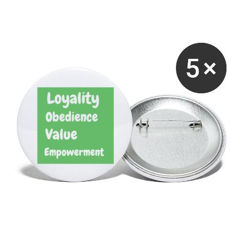 loyality - Stora knappar 56 mm (5-pack)