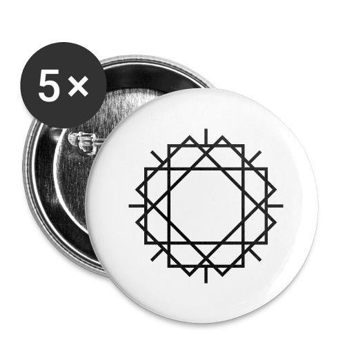 Widerstand mit Spaß 20.1 - Buttons groß 56 mm (5er Pack)