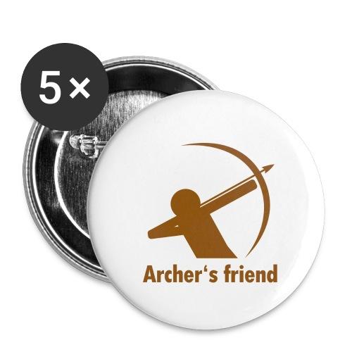 Archer's friend - Buttons groß 56 mm (5er Pack)