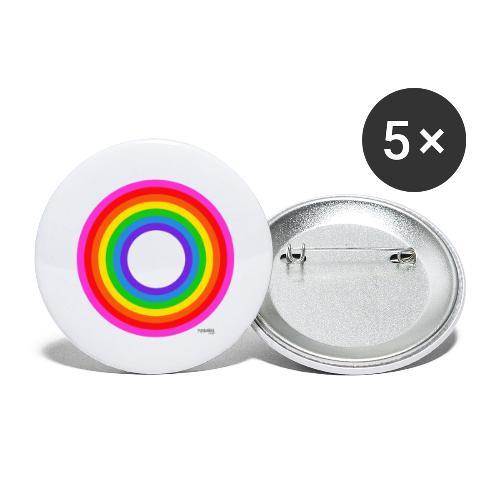 Eternal Rainbow - Rintamerkit isot 56 mm (5kpl pakkauksessa)