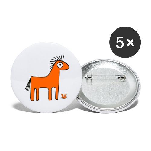 orange horse - Confezione da 5 spille grandi (56 mm)