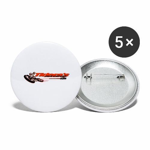 Tideras Motocross Rennen - Buttons groß 56 mm (5er Pack)