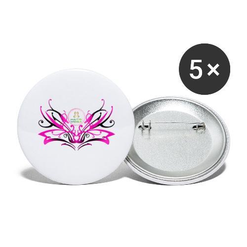 ButterFly MaitriYoga - Lot de 5 grands badges (56 mm)