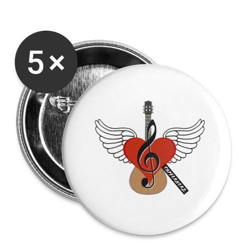 Tapferherz Musik - Buttons groß 56 mm (5er Pack)
