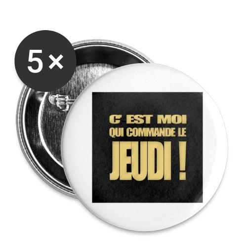 badgejeudi - Lot de 5 grands badges (56 mm)
