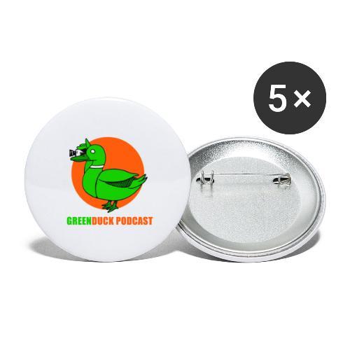 Greenduck Podcast Logo - Buttons/Badges stor, 56 mm (5-pack)