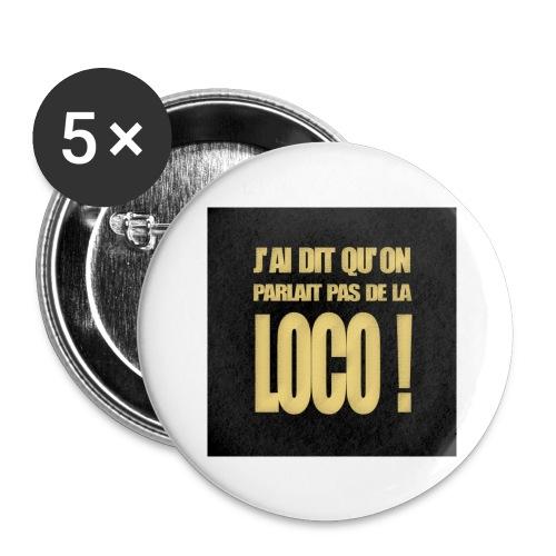 badgeloco - Lot de 5 grands badges (56 mm)