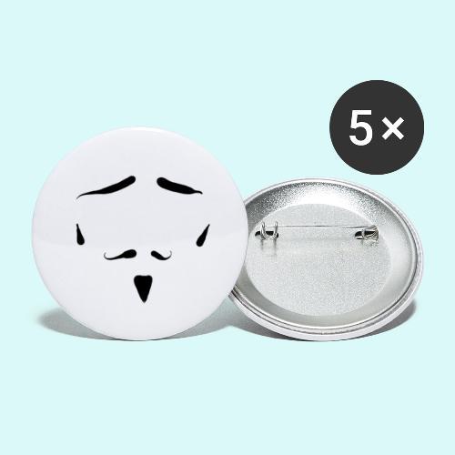 moustache - Lot de 5 grands badges (56 mm)