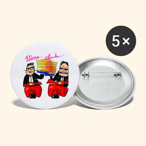 Pizza Club - Buttons groot 56 mm (5-pack)