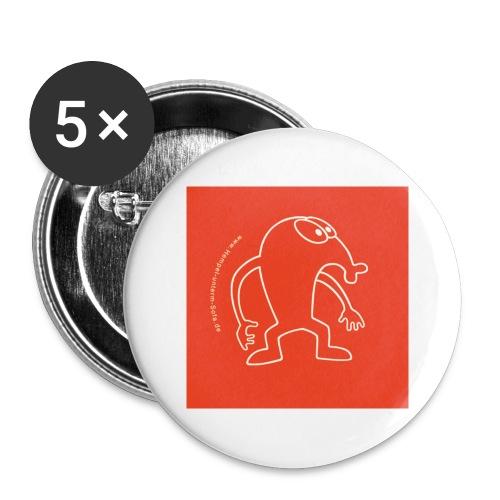 button vektor rot - Buttons groß 56 mm (5er Pack)