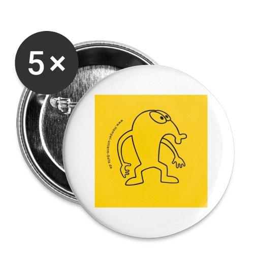 button vektor gelb - Buttons groß 56 mm (5er Pack)