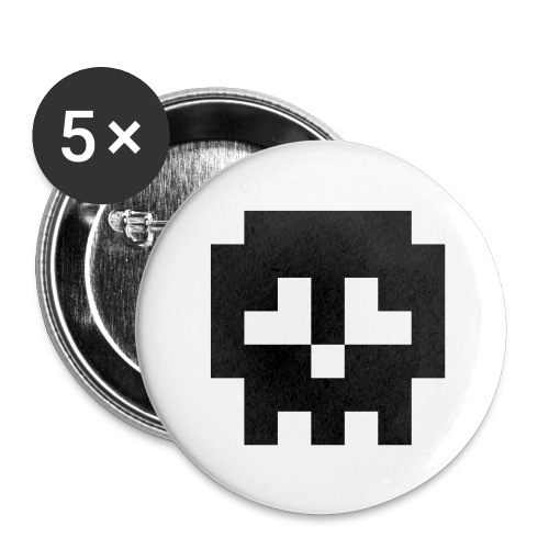 Retro Gaming Skull - Buttons large 2.2''/56 mm (5-pack)