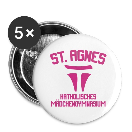 ST AGNES Katholisches Mädchengymnasium - Buttons groß 56 mm (5er Pack)