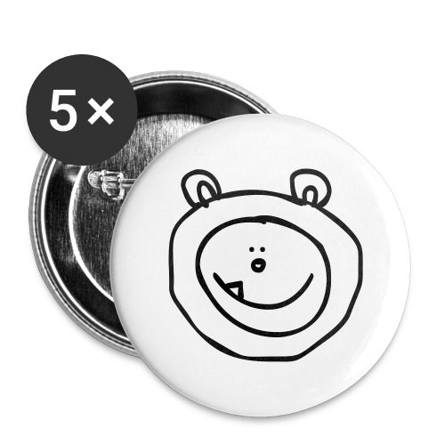 sneeuwbeer - Buttons groot 56 mm (5-pack)