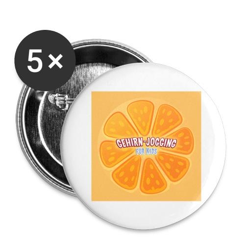 orangetextur - Buttons groß 56 mm (5er Pack)