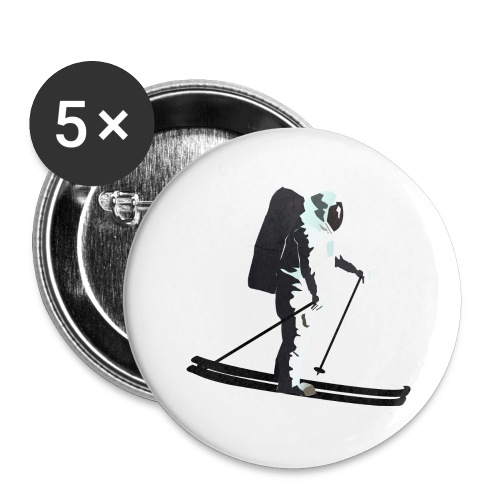Moonlight Skiing - Buttons large 2.2''/56 mm(5-pack)