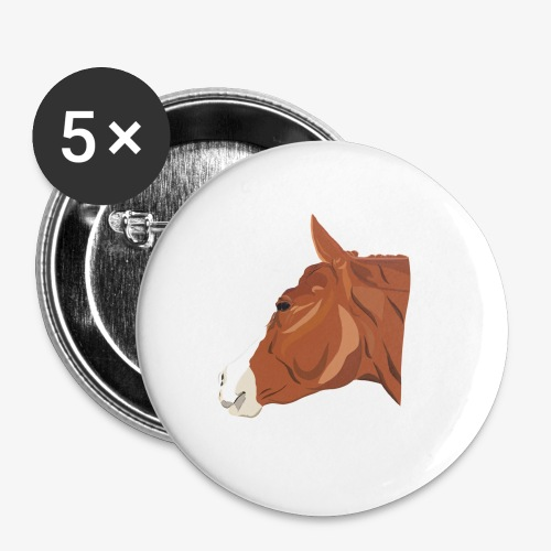 Quarter Horse - Buttons groß 56 mm (5er Pack)