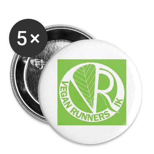 VeganRunners Logga jpg - Stora knappar 56 mm (5-pack)