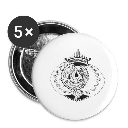 Rettile - Confezione da 5 spille grandi (56 mm)