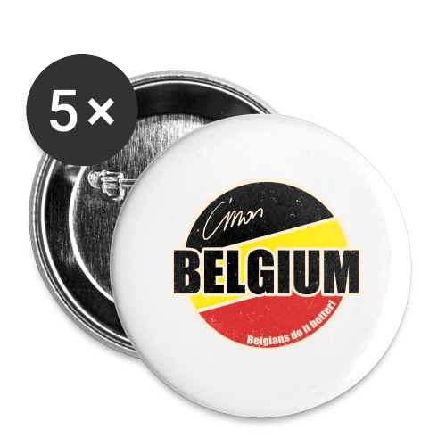 Cmon Belgium - Buttons groot 56 mm (5-pack)