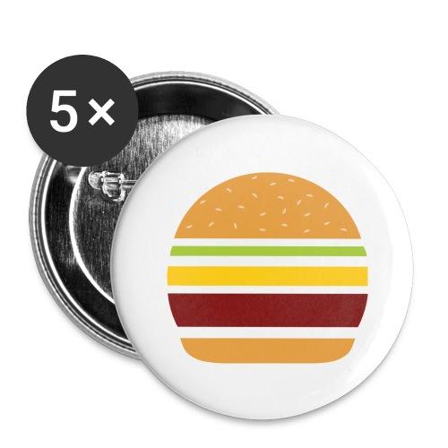 Logo Burger Panhamburger - Lot de 5 grands badges (56 mm)