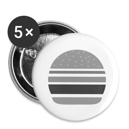 Logo_panhamburger_gris - Lot de 5 grands badges (56 mm)