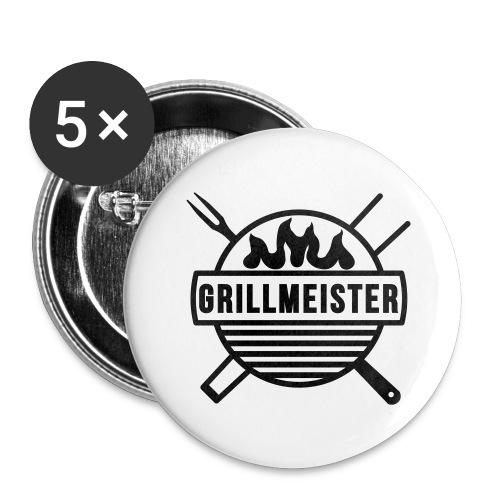Grillmeister - Buttons groß 56 mm (5er Pack)