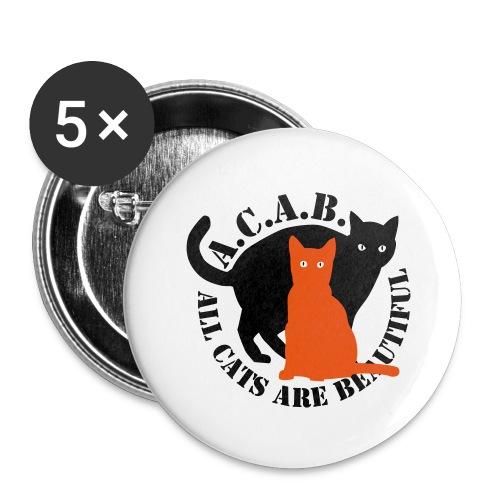 gaticos - Paquete de 5 chapas grandes (56 mm)
