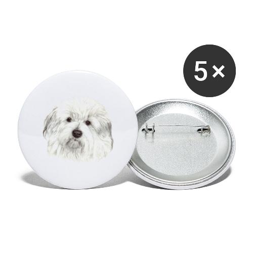 coton-de-tulear - Buttons/Badges stor, 56 mm (5-pack)