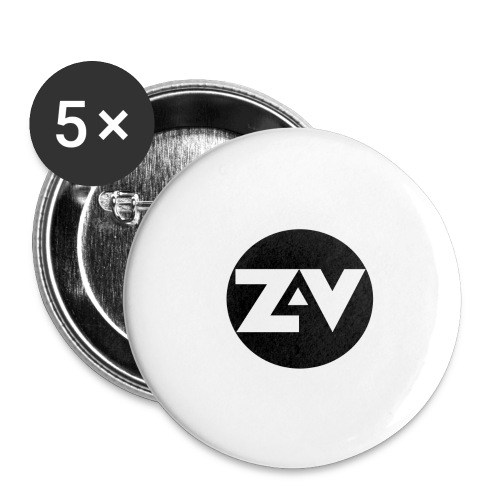 Zvooka Records Logo - Buttons large 2.2''/56 mm (5-pack)
