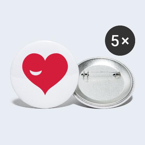 Winky Heart - Buttons groot 56 mm (5-pack)