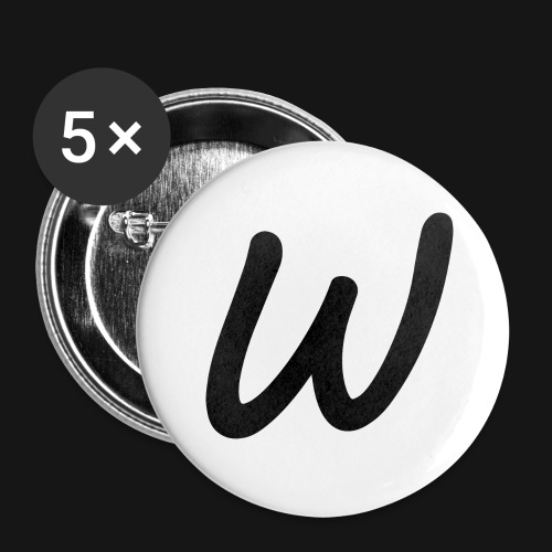 Walkeny's W - Buttons groß 56 mm (5er Pack)