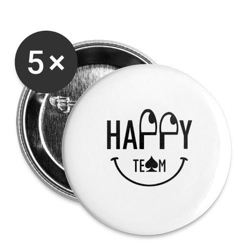 Happy Team - Confezione da 5 spille grandi (56 mm)