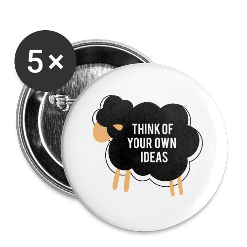 Think of your own idea! - Buttons large 2.2''/56 mm (5-pack)