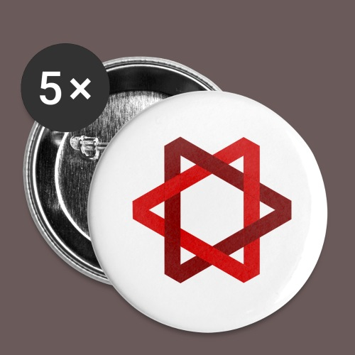 Two Triangles - Buttons/Badges stor, 56 mm (5-pack)