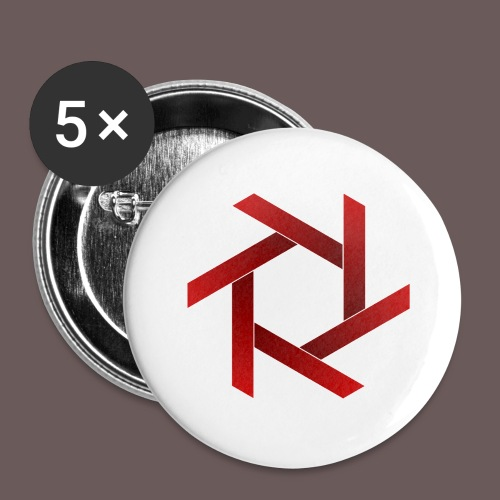 Star - Buttons/Badges stor, 56 mm (5-pack)