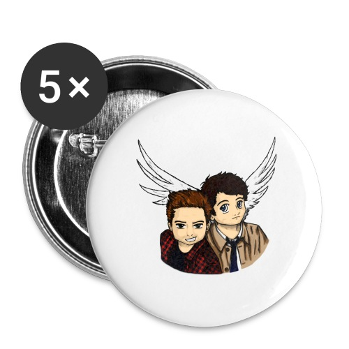 Destiel i farver - Buttons/Badges stor, 56 mm (5-pack)