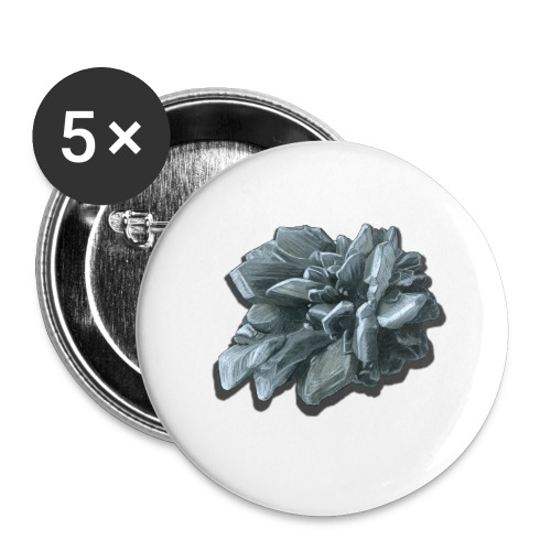 Gipsrose - Buttons groß 56 mm (5er Pack)