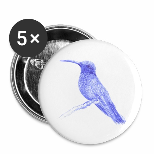 Hummingbird with ballpoint pen - Buttons large 2.2''/56 mm (5-pack)