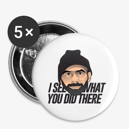 DJ Flipout Black - Lot de 5 grands badges (56 mm)