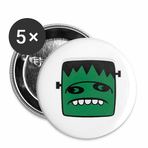 Fonster pur weißer Rand - Buttons groß 56 mm (5er Pack)
