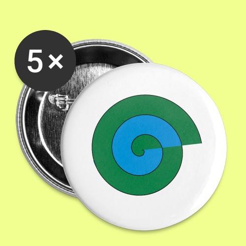 espiral color - Paquete de 5 chapas grandes (56 mm)
