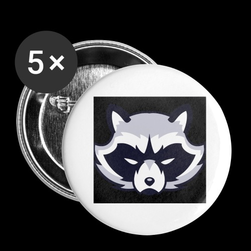 WaschbeerKopf Logo :) - Buttons groß 56 mm (5er Pack)
