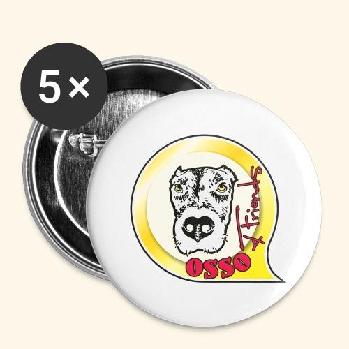 Osso4Friends official logo - Confezione da 5 spille grandi (56 mm)