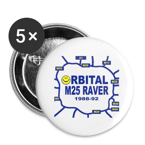 Orbital M25 Acid Hosue Raver - Buttons large 2.2''/56 mm(5-pack)