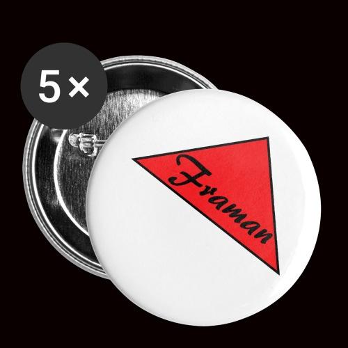 Framan - Confezione da 5 spille grandi (56 mm)