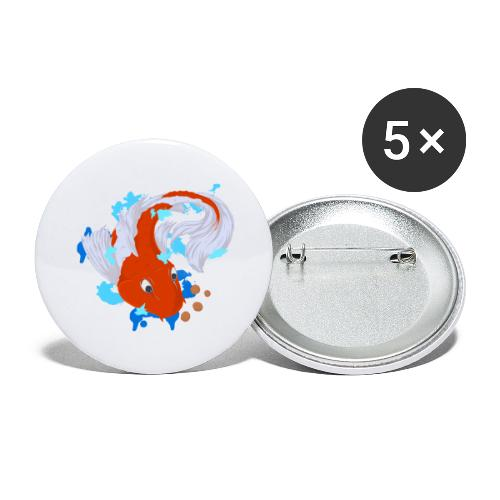 Carpa Koi - Confezione da 5 spille grandi (56 mm)