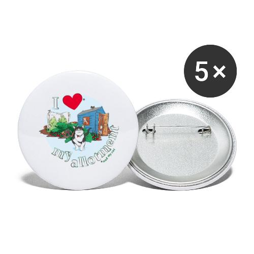 I 'love' my allotment - Buttons large 2.2''/56 mm (5-pack)